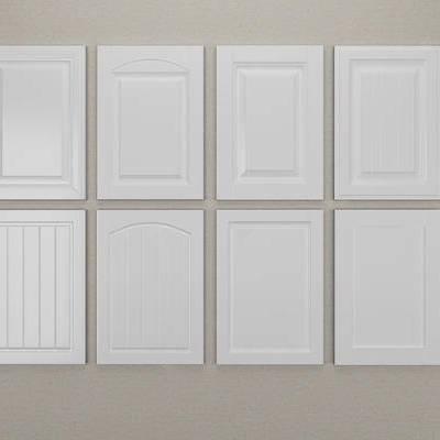 门板, 现代, 开槽, 柜门, 美式