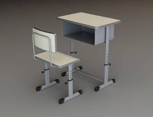 现代学生课桌椅