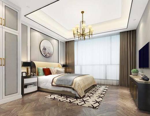 卧室, 床具组合, 现代卧室