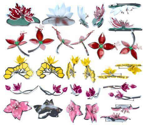 现代, 胸针, 胸花, 单体