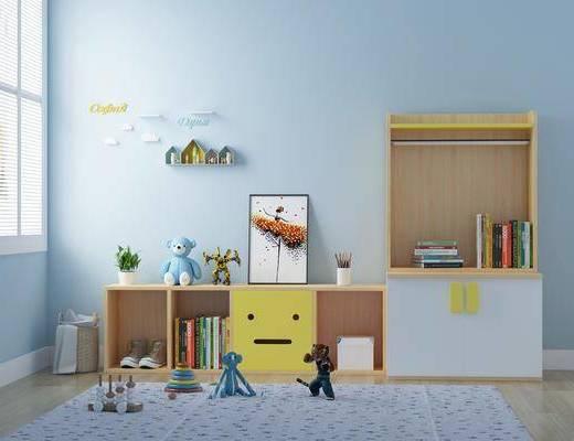 北欧, 玩具, 柜子, 摆件