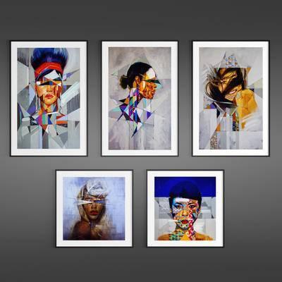 现代简约, 挂画, 装饰画