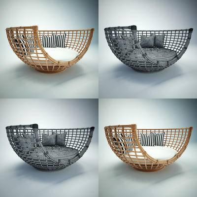 藤编椅, 休闲椅