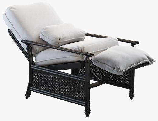 躺椅, 藤椅, 沙发脚踏