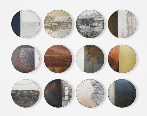 装饰画, 挂画, 圆框画, 装饰画组合, 墙饰挂饰, 现代