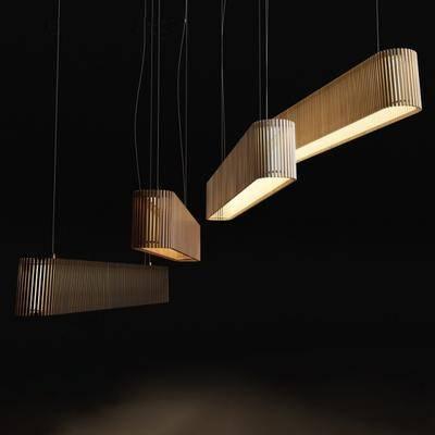 吊灯, 木, 现代
