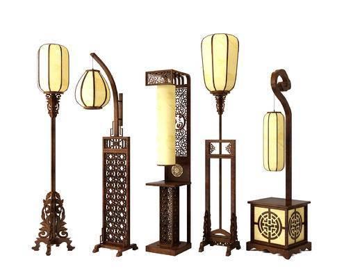 中式, 新中式, 古典, 落地灯, 灯