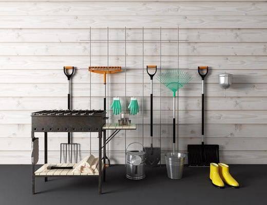 工具, 铁铲, 烧烤架