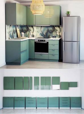 厨具, 厨房, 餐具, 橱柜, 吊灯, 冰箱, 艺术, 现代