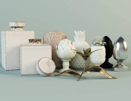 摆件, 装饰品, 陶瓷, 花, 现代