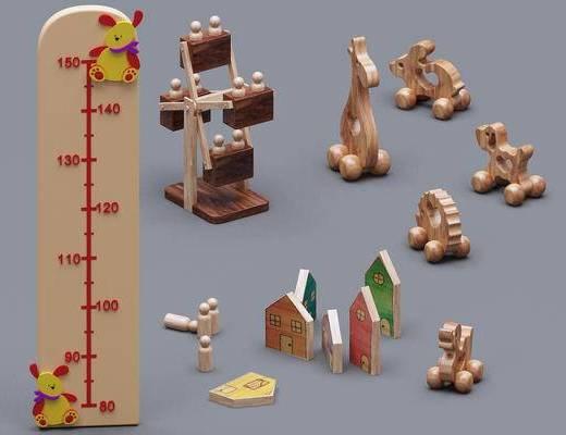 儿童摆件, 儿童玩具, 玩具, 儿童量尺