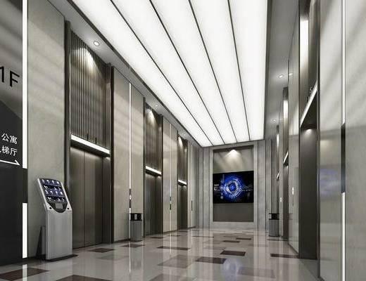电梯间, 大堂