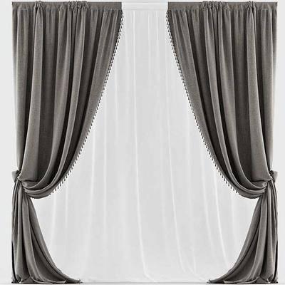 窗帘, 现代, 布帘