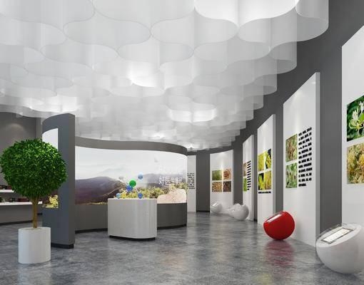 展厅, 现代展厅, 设备, 展示墙