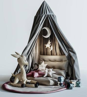 玩具, 帐篷, 摆件组合