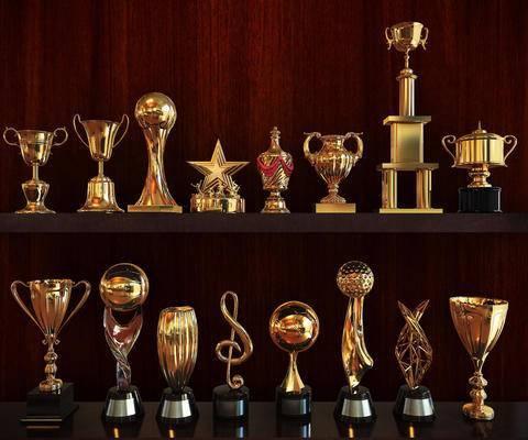 奖杯, 陈设品, 摆件, 金杯