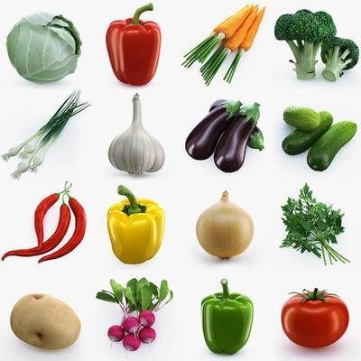 食材, 蔬菜, 现代食材蔬菜组合, 瓜果, 现代