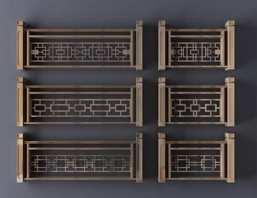 新中式, 围栏, 护栏, 栏杆