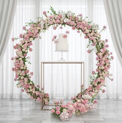 婚庆婚礼, 花艺花环, 花环花圈, 台灯, 装饰架, 现代