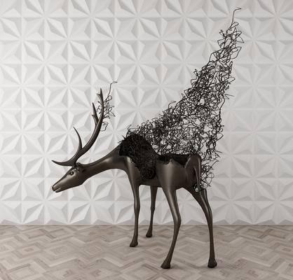 现代, 抽象, 铁艺, 摆件