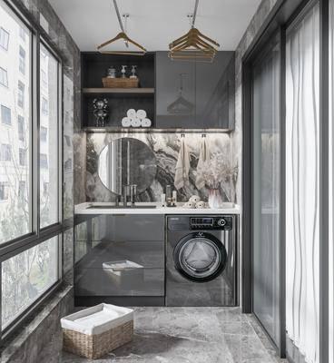 现代阳台, 洗衣机