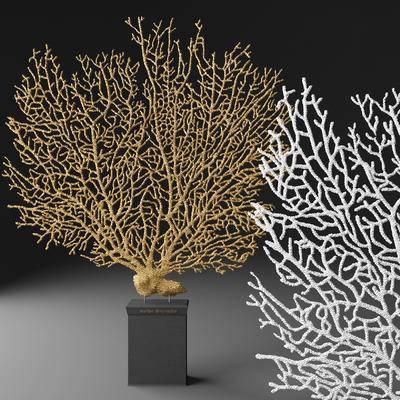 珊瑚, 摆件, 现代珊瑚摆件, 现代