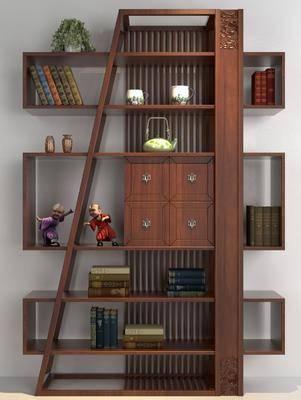 装饰柜, 摆件组合, 博古架, 柜架组合