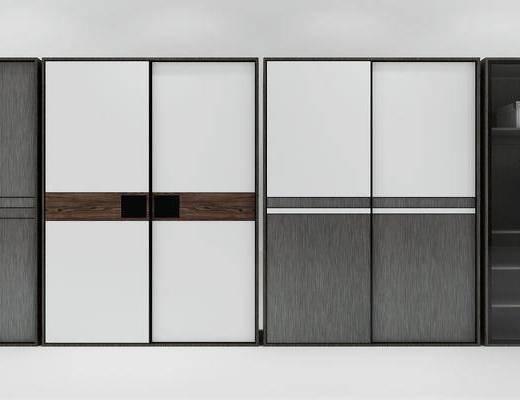 衣柜, 储物柜, 现代, 柜