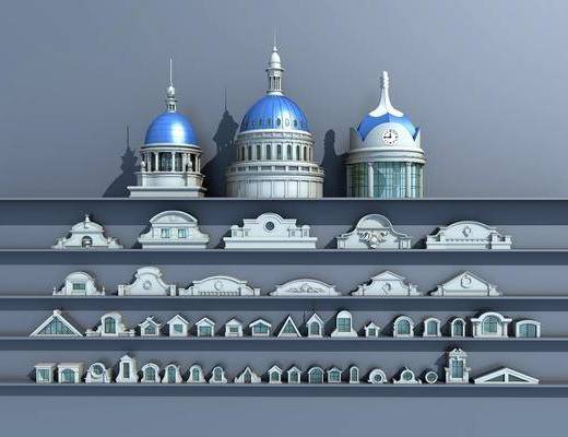 穹顶, 建筑构件, 老虎窗, 欧式