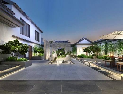 现代, 庭院