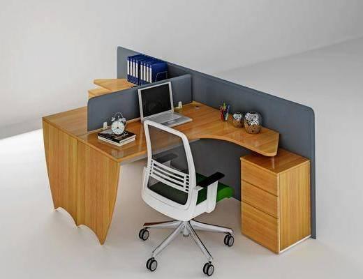 办公桌, 电脑桌, 桌椅组合