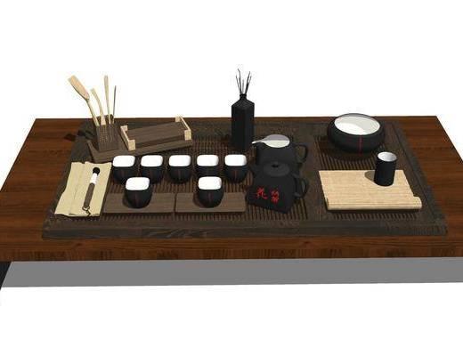 茶桌, 茶具组合, 摆件组合