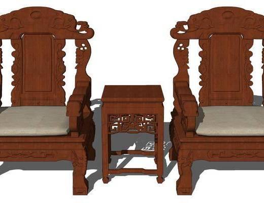 中式, ��木椅, �M合