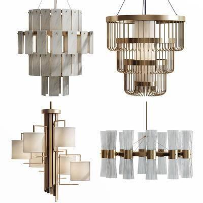吊灯, 现代金属吊灯