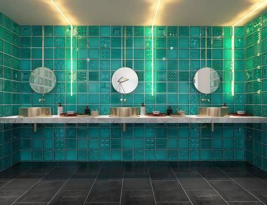 卫生间, 卫浴组合, 洗浴组合, 洗手盆
