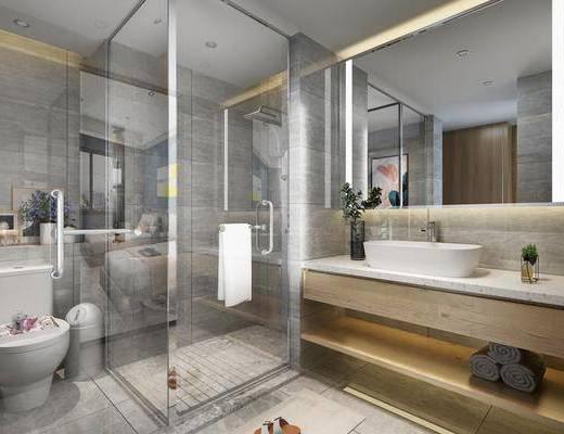 衛浴, 洗浴組合, 洗手盆, 馬桶