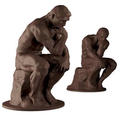 思考者, 雕塑, 雕像, 现代, 欧式