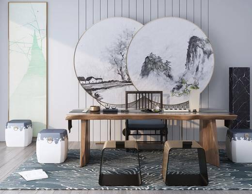 桌椅組合, 墻飾, 擺件組合, 單椅