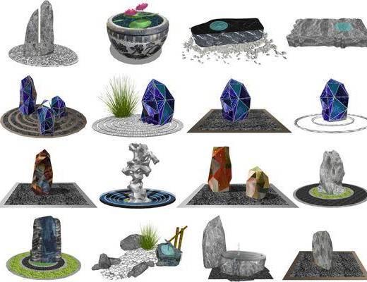 中式置石景观
