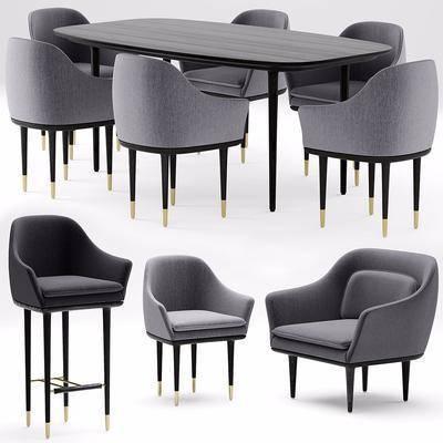 餐桌, 桌椅组合, 单椅