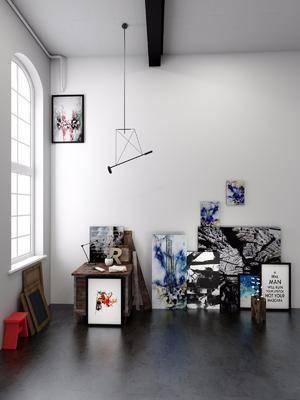 掛畫, 裝飾畫, 藝術畫, 擺件組合