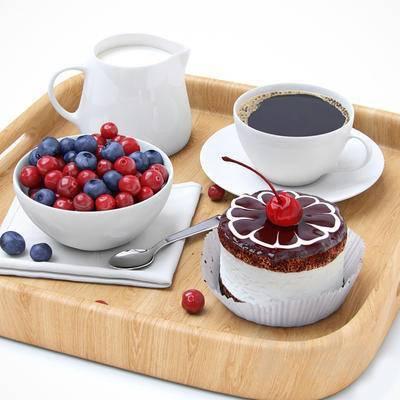 咖啡, 牛奶, 食物, 碗碟