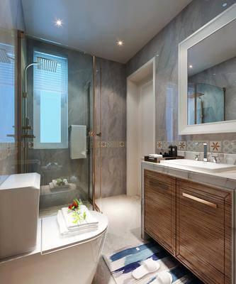 现代卫生间, 现代, 卫生间, 洗手台