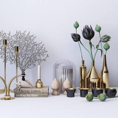 陈设品, 摆件, 摆设, 装饰, 烛台, 花瓶