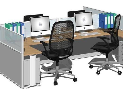 现代职员办公桌椅
