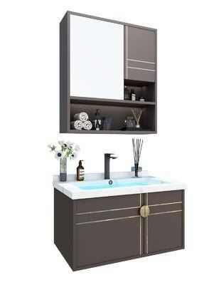 浴室柜, 柜架组合, 摆件组合, 浴柜