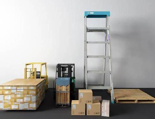 梯子, 包装箱, 货物