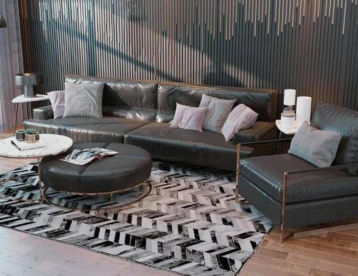 沙发, 沙发组合, 现代, CR, 沙发茶几组合