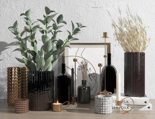 植物, 摆件组合, 花瓶