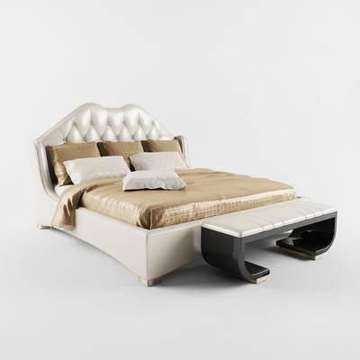 双人床, 床尾榻, 现代
